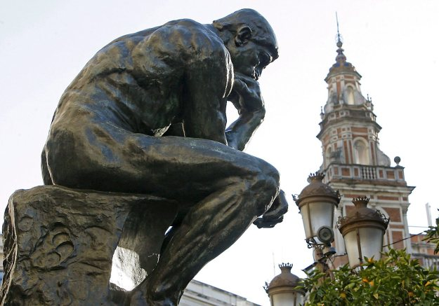 'The thinker' of Rodin is exhibited in  Seville